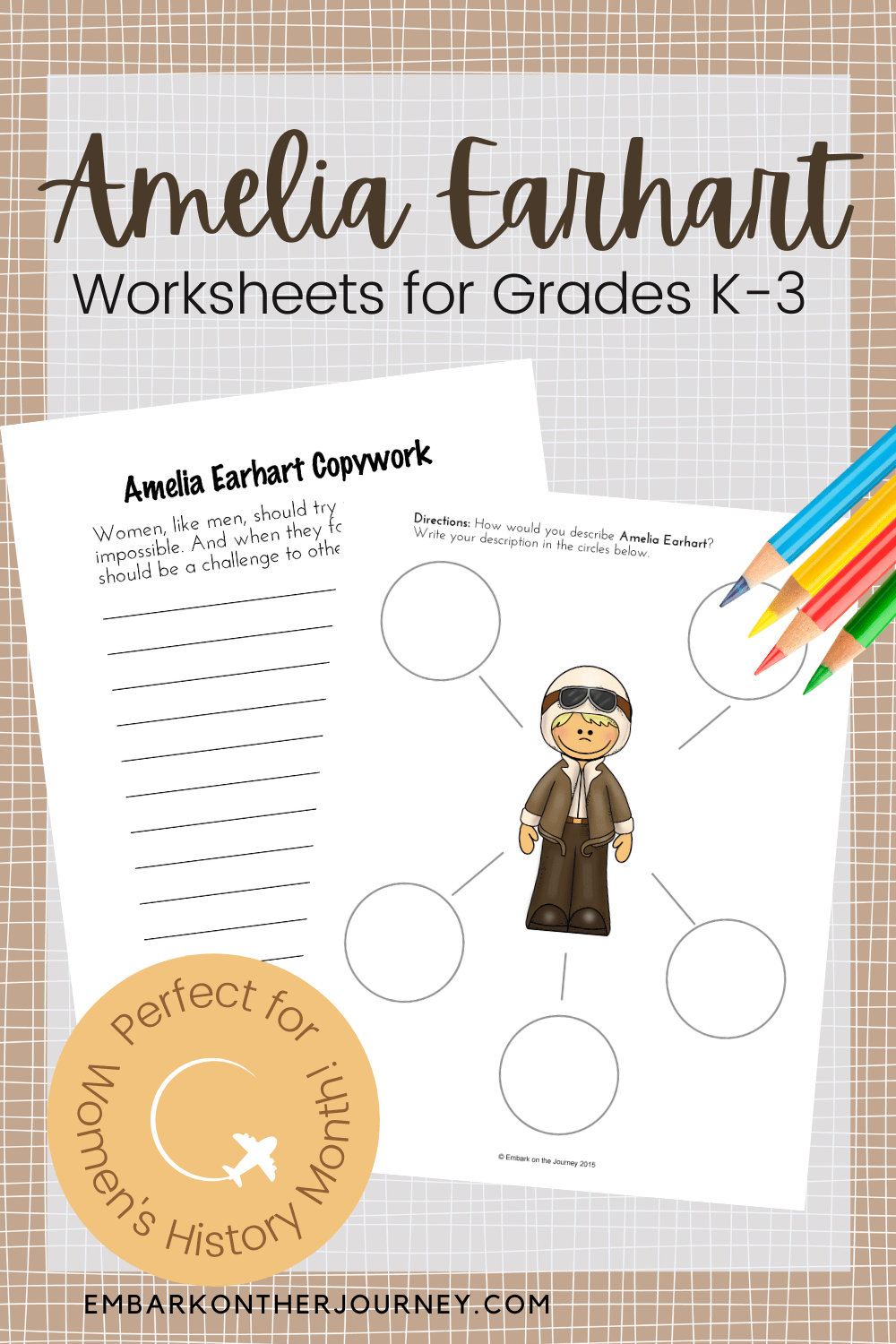 medium resolution of Printable Amelia Earhart Worksheets for Elementary Ages
