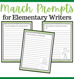 Printable March Writing Prompts for Elementary Students [ 1024 x 1024 Pixel ]