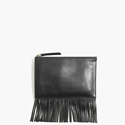 Madewell Leather Fringe Clutch- $60