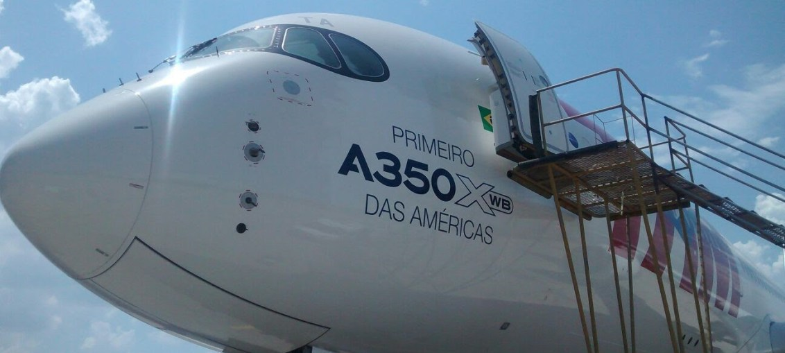 TAM realiza voo inaugural com A350 XWB