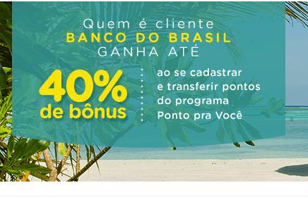 Smiles oferece até 40% de bônus em milhas na transferência de pontos do Banco do Brasil