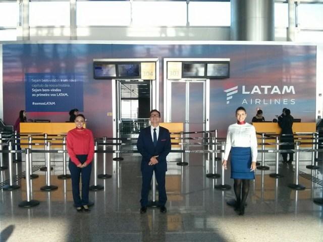 Hoje nasce a marca LATAM com três voos inaugurais