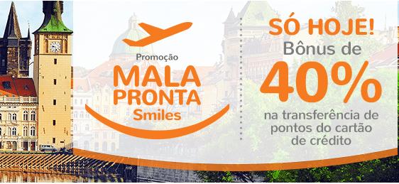 Smiles oferece 40% de bônus na transferência de milhas do cartão de crédito