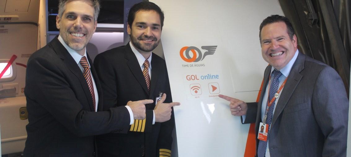 GOL realiza primeiro voo comercial com internet a bordo da América do Sul