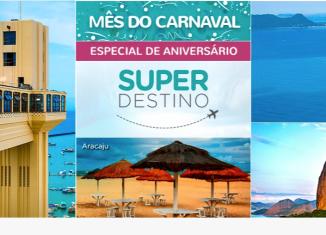 Smiles oferece passagens para o Rio de Janeiro, Florianópolis, Recife, Salvador e Aracaju a partir de 4.000 milhas