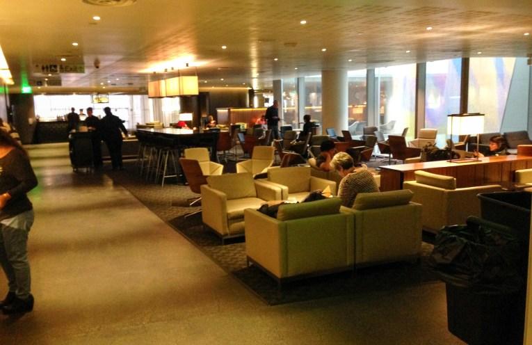 Sala Vip Qantas OneWorld no Aeroporto de Los Angeles