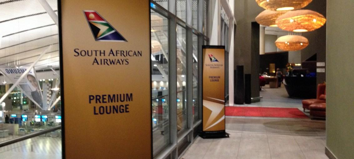 Sala Vip South African Airways na Cidade do Cabo