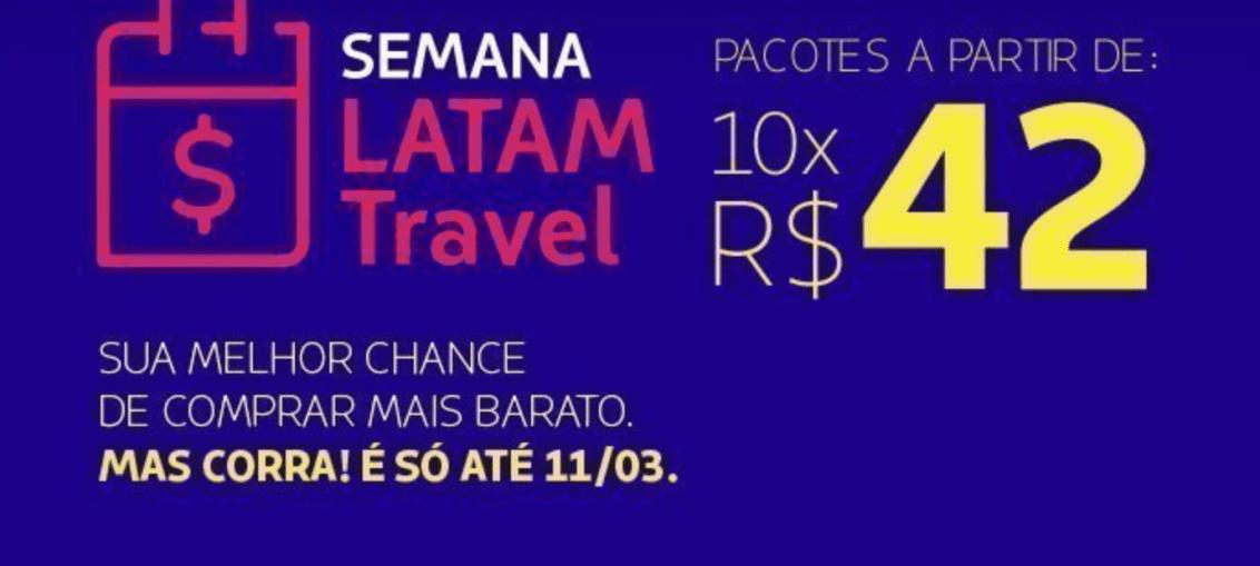 LATAM Travel faz saldão de pacotes nacionais e internacionais