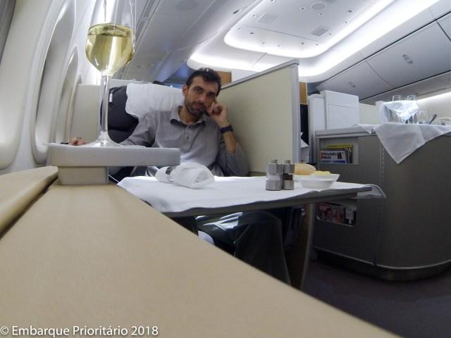 Primeira classe da Lufthansa de São Paulo Para Frankfurt
