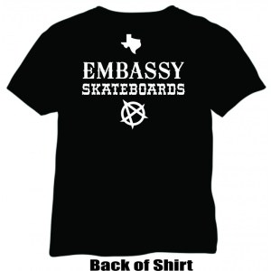 Embassy Skateboards RAMONES Texas Legends T-Shirt