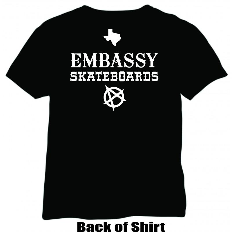 Embassy Skateboards RAMONES Texas Legends T-Shirt