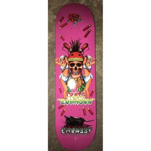 "Embassy Skateboards Craig Johnson Loco Gringo PINK 8.5"""
