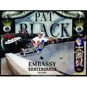 "Embassy Skateboards Pat Black, 9.25"" 32'5"" w/ 15.75"" wb"