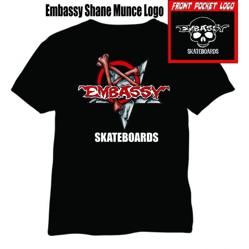 Embassy Skateboards Bones Anarchy Logo