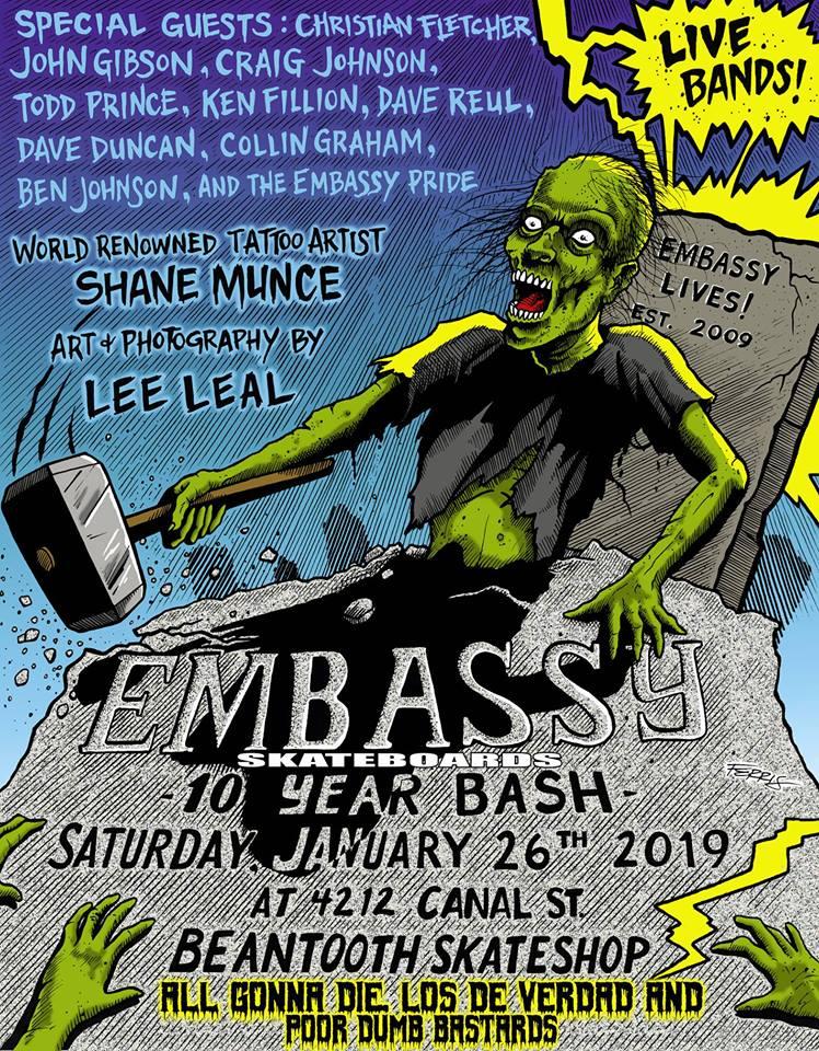 Embassy Skateboards 10 Year Anniversary