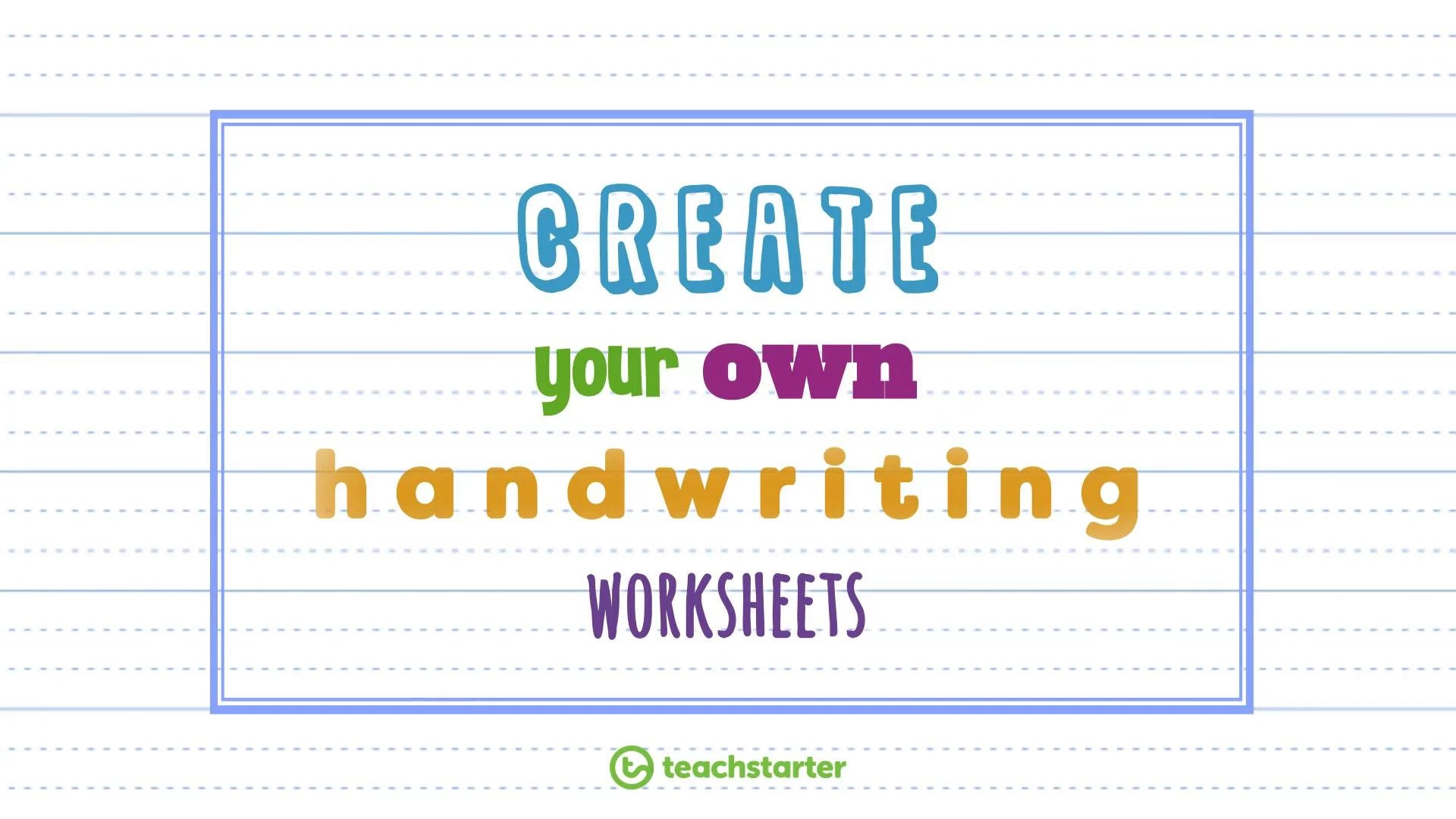medium resolution of Create Your Own Handwriting Sheets Easily   Handwriting Generator