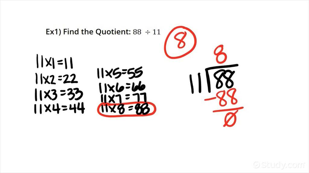 How to Divide Whole Numbers with No Remainder with 2-digit