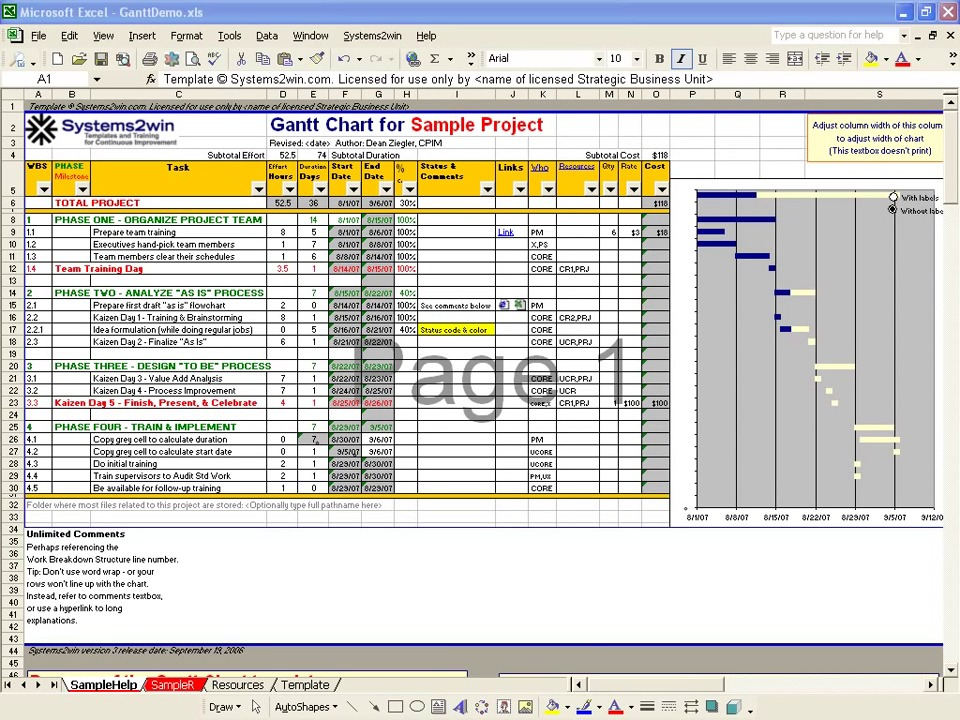 also gantt chart excel video rh systems win