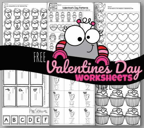 small resolution of Tons of FREE Valentine's Day Worksheets
