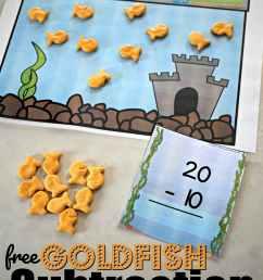 FREE Goldfish Kindergarten Subtraction Game [ 5016 x 3344 Pixel ]