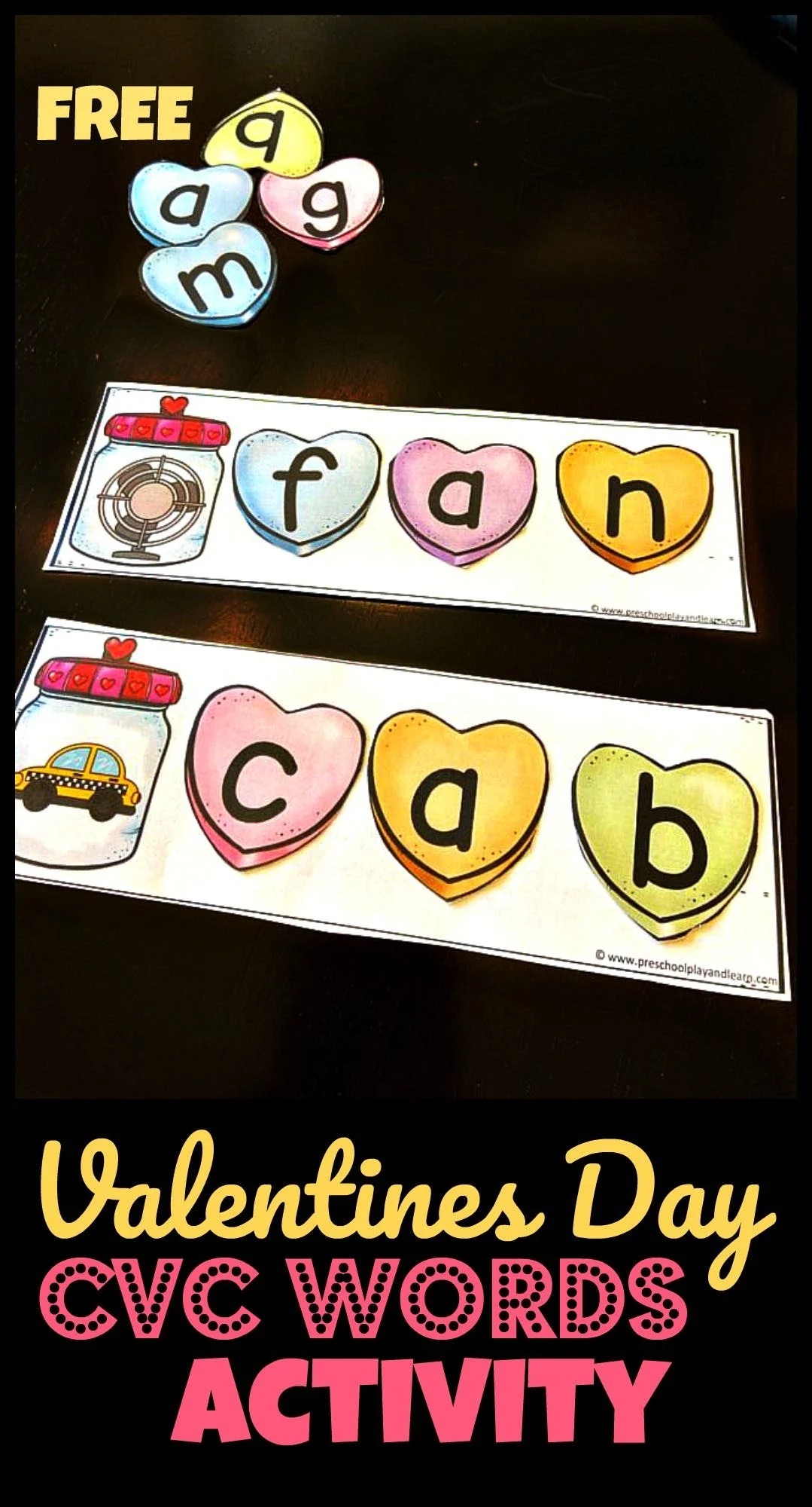 hight resolution of FREE Valentines Day Short i Words Activity