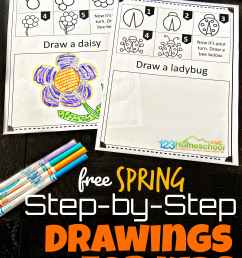 Free SPRING Directed Drawing Worksheets for Kids [ 2309 x 1732 Pixel ]
