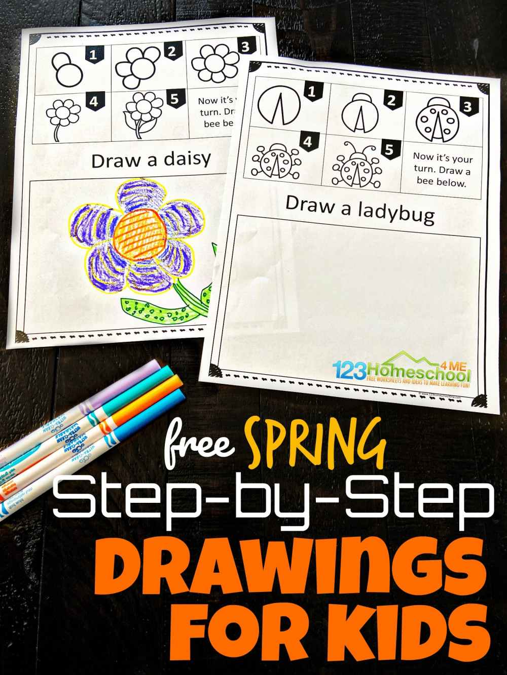 medium resolution of Free SPRING Directed Drawing Worksheets for Kids