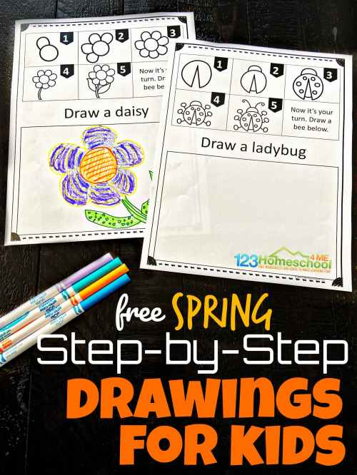 small resolution of Free SPRING Directed Drawing Worksheets for Kids