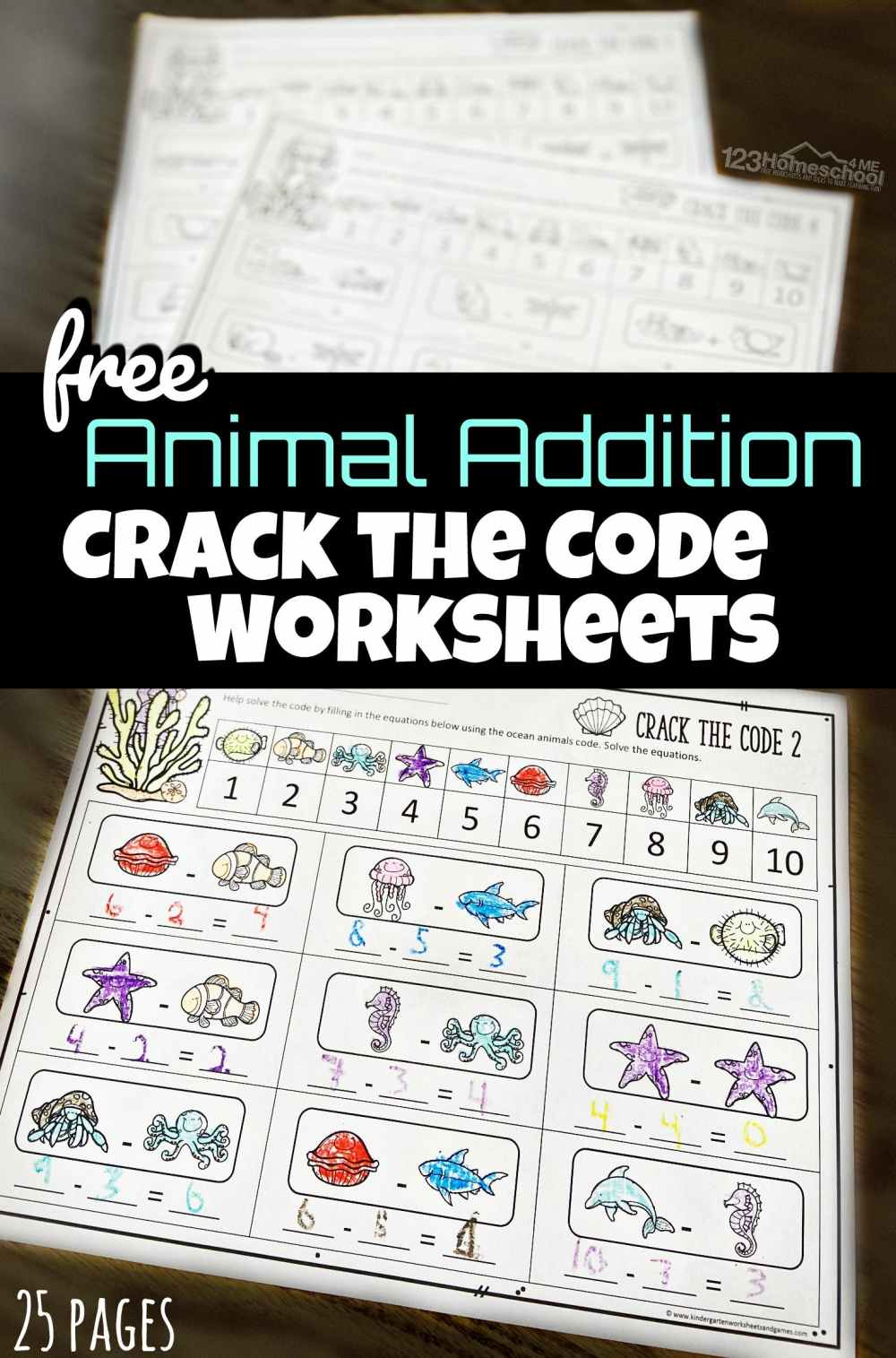 medium resolution of Math Crack the Code Worksheets