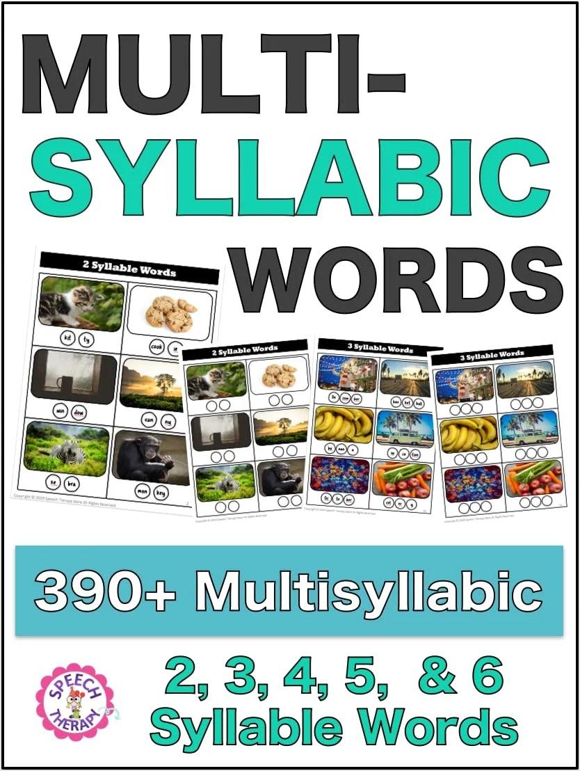 medium resolution of 430+ Free Multisyllabic Words List Activity Bundle - Speech Therapy Store