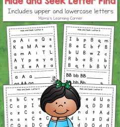 ABC Hide and Seek Letter Find for Preschoolers - Mamas Learning Corner [ 1500 x 1000 Pixel ]
