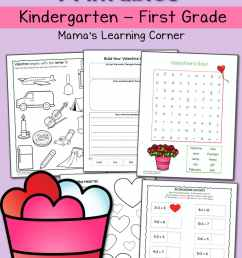 Valentine Worksheets for Kindergarten and First Grade - Mamas Learning  Corner [ 1500 x 1000 Pixel ]