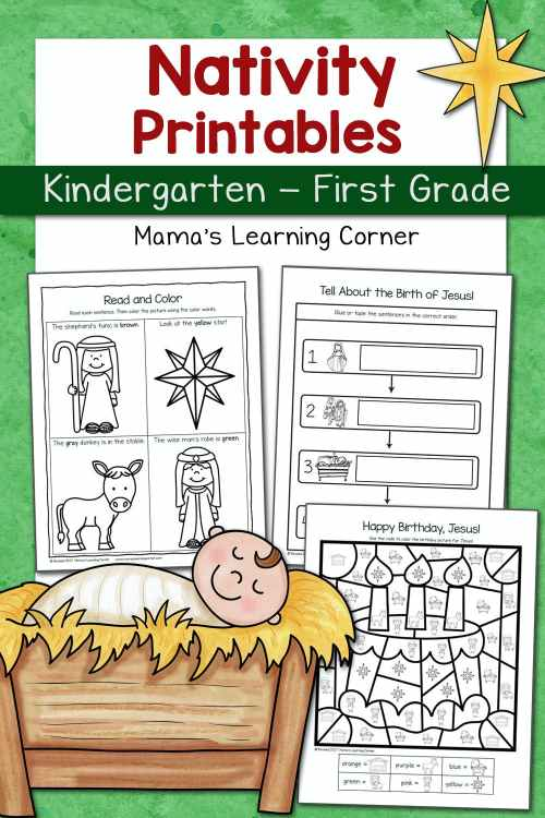 small resolution of Nativity Worksheet Packet for Kindergarten and First Grade - Mamas Learning  Corner