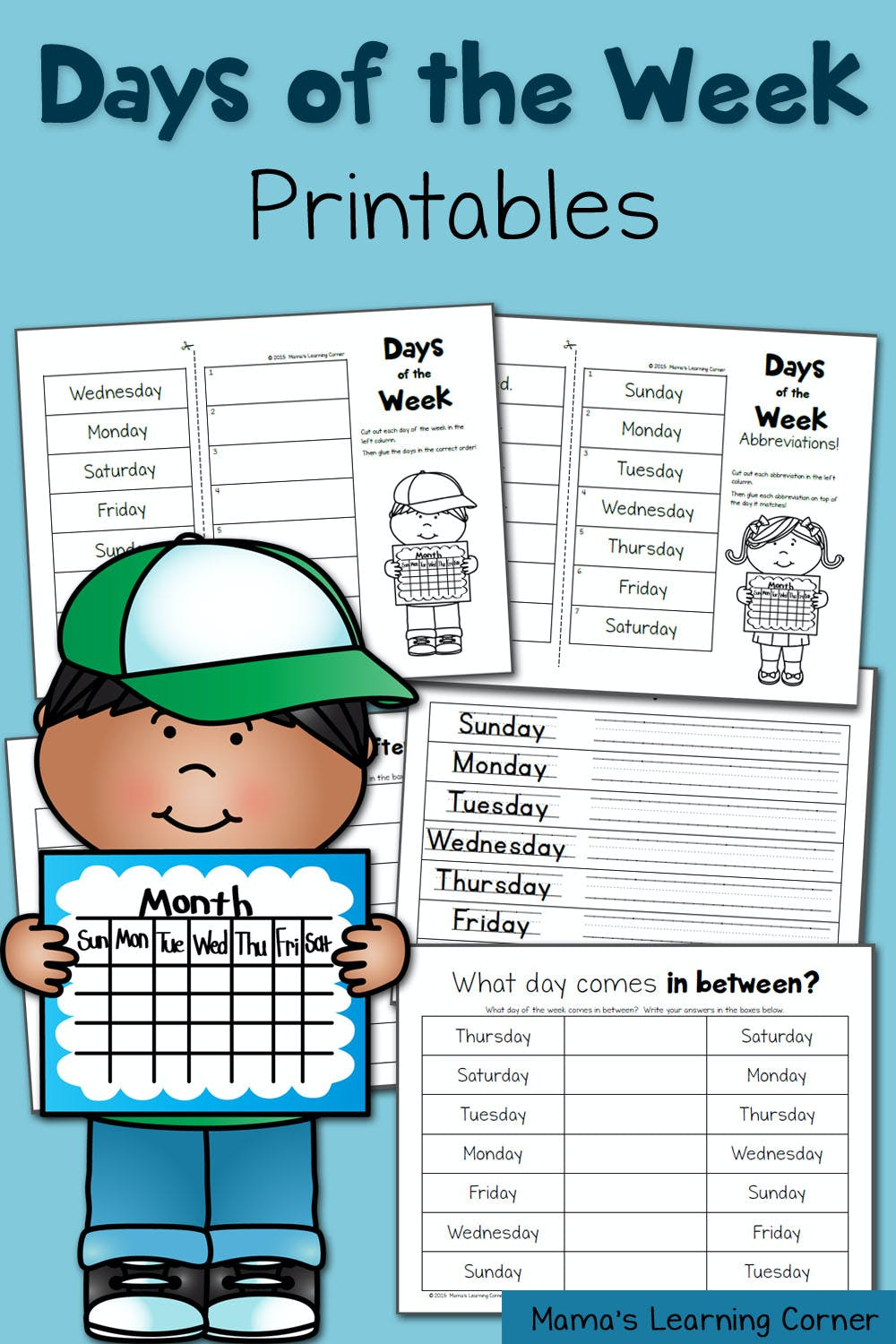 medium resolution of Days of the Week Worksheets - Mamas Learning Corner