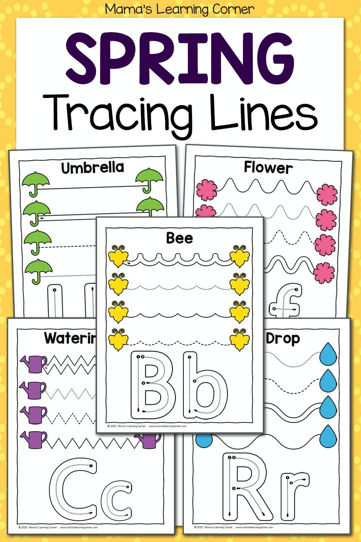 medium resolution of Spring Tracing Worksheets for Preschool - Mamas Learning Corner