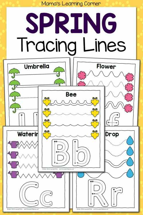 small resolution of Spring Tracing Worksheets for Preschool - Mamas Learning Corner