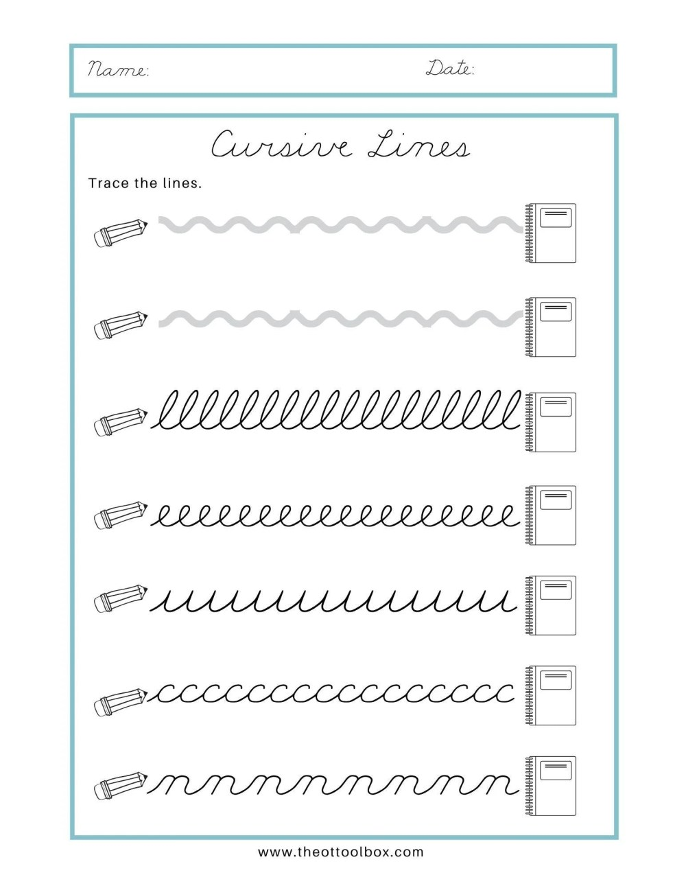 medium resolution of Cursive Writing for Beginners - The OT Toolbox