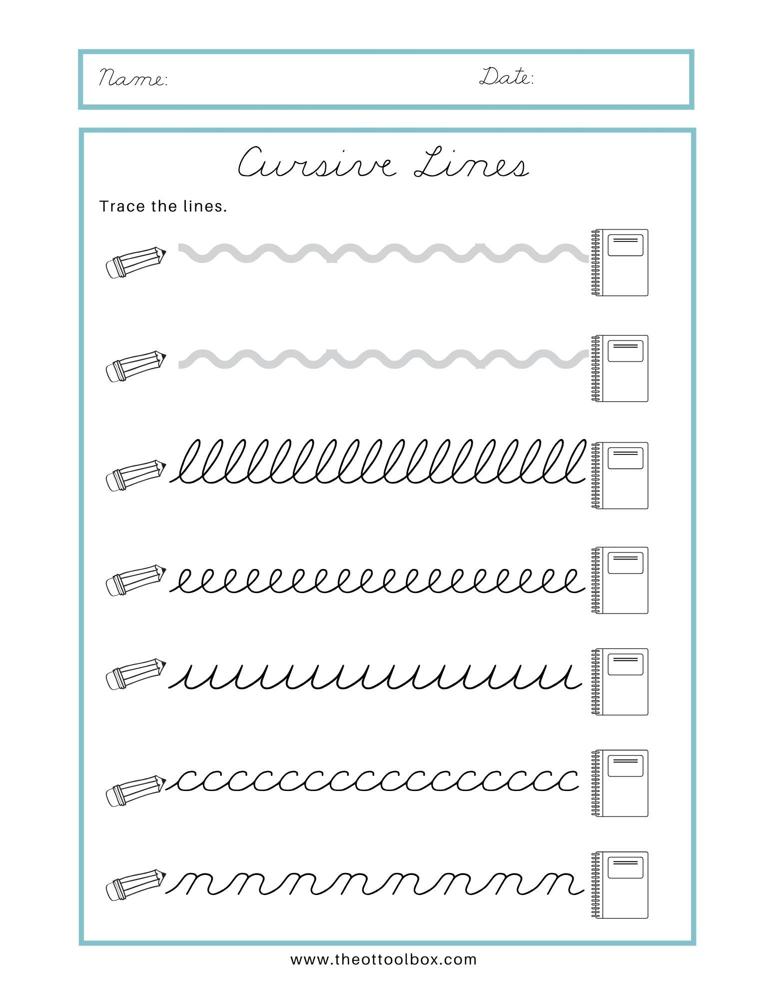 hight resolution of Cursive Writing for Beginners - The OT Toolbox