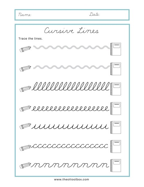 small resolution of Cursive Writing for Beginners - The OT Toolbox