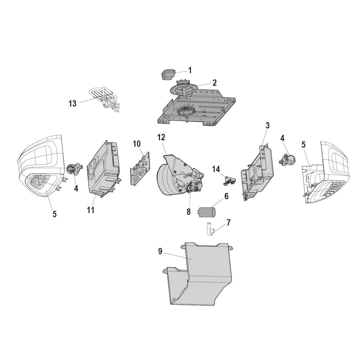 Chamberlain Hd420ev Replacement Parts