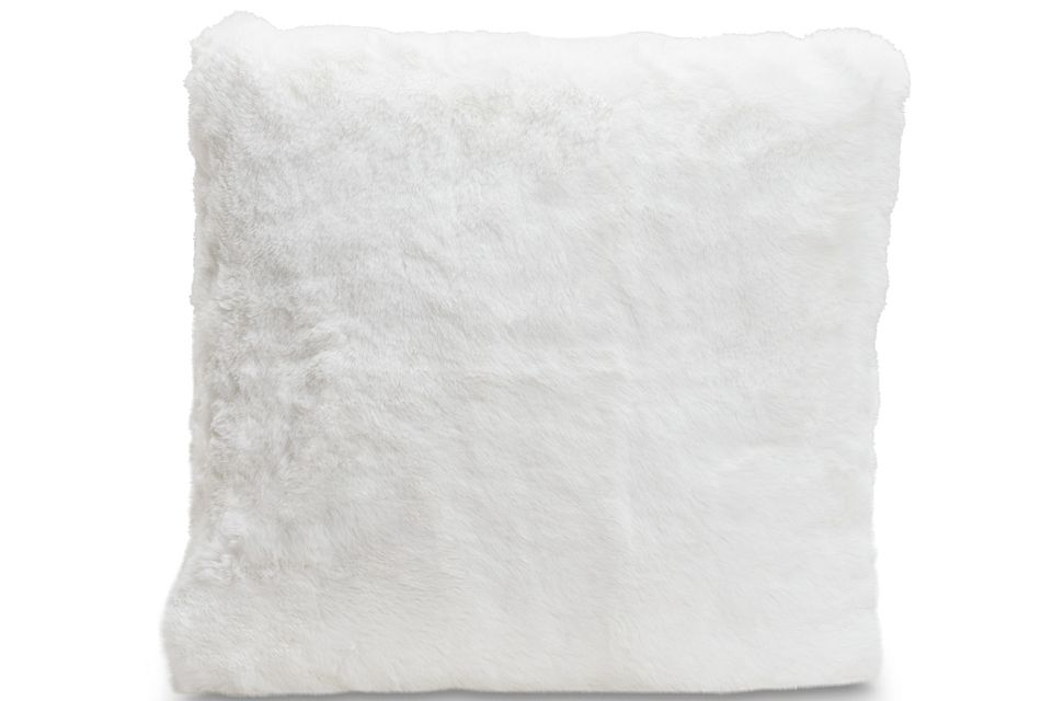 kaycee white 18 accent pillow