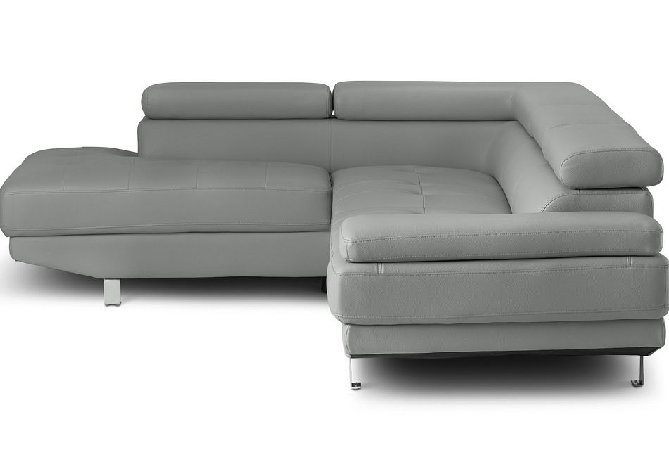 zane dark gray micro left chaise sectional
