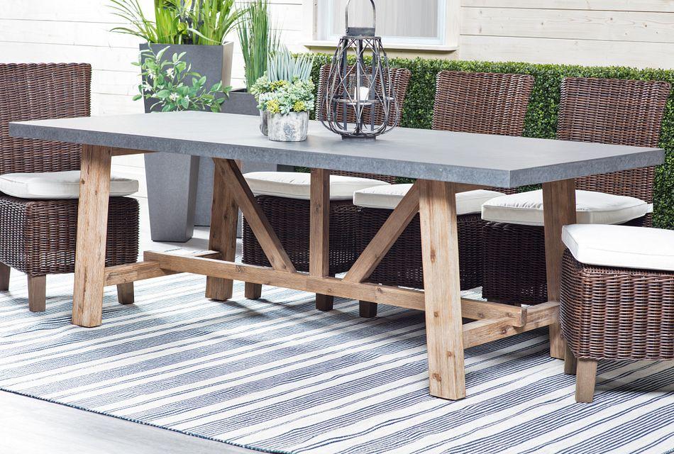 canyon concrete 86 rectangular table