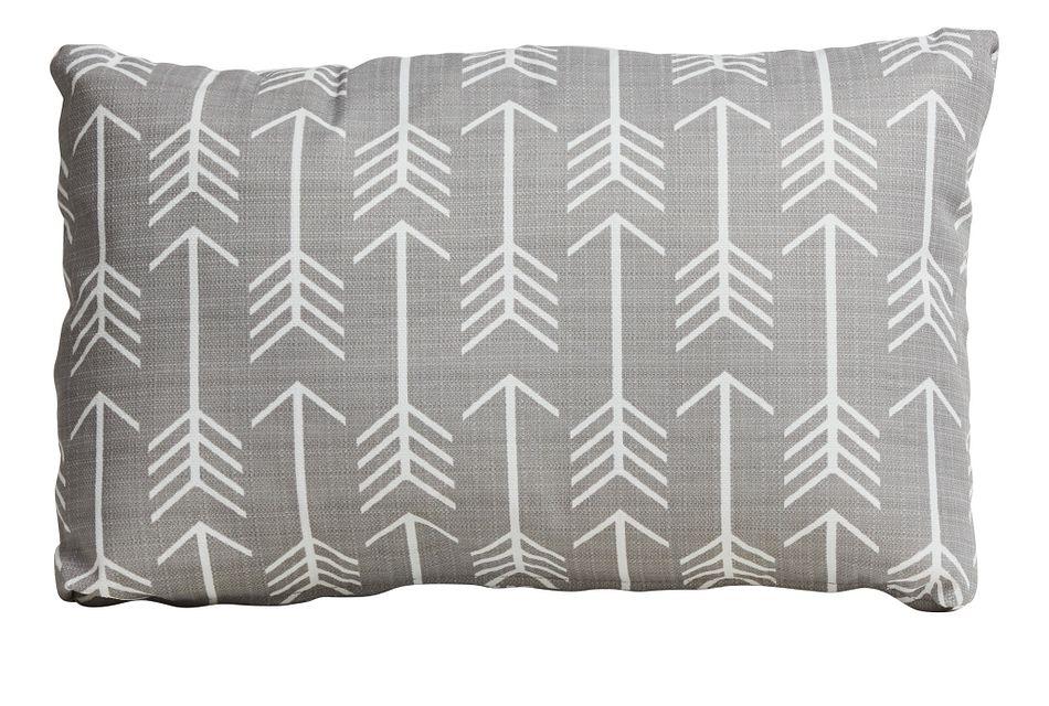 arrow gray lumbar indoor outdoor accent pillow