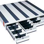Model 318-3 ITEMIZER® Van Drawer Unit, Lateral, 49in x 48in x 6.75in