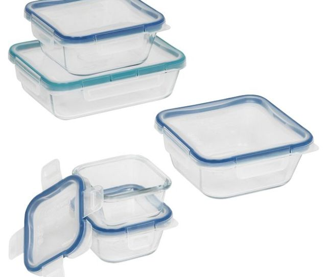 Total Solution Pyrex Glass Food Storage 10 Pc Set