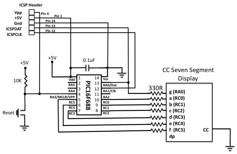 Circuit Diagram For Seven Segment Display Interface