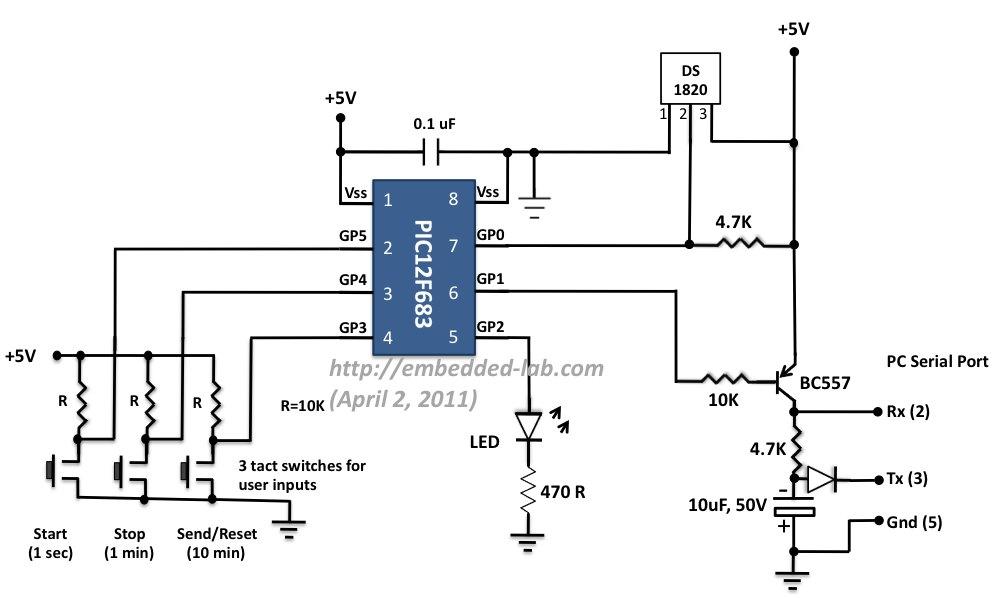 simple temperature sensor circuit