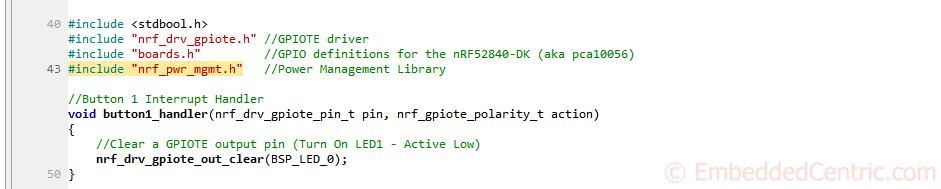 nRF52 tutorials PWR