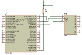 Interfacing a PIC18 to a 4094 shift-register with help of the MSSP module